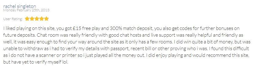 Bingo Magix Customer Review 5