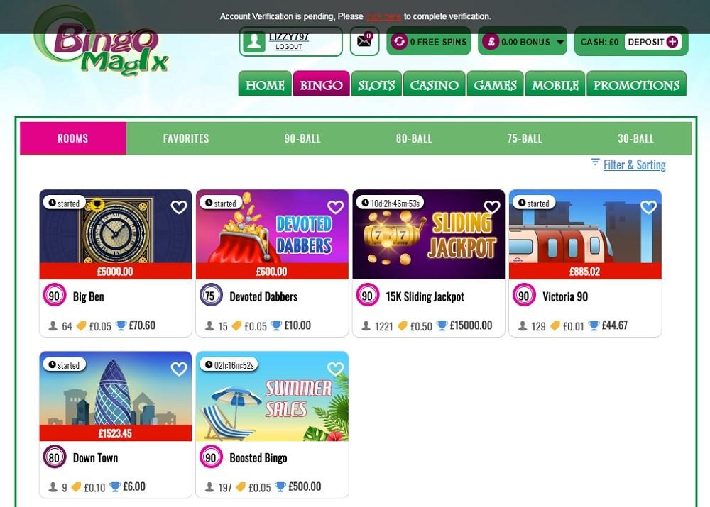Bingo Magix Members Area