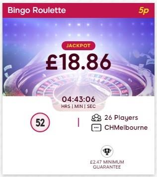 Bingo Me Happy Bingo Roulette