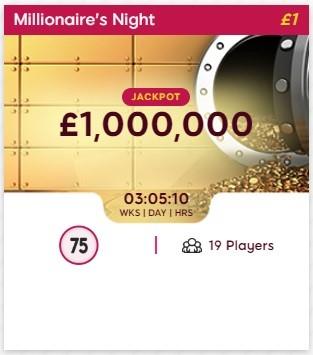 Bingo Me Happy Millionaires Night