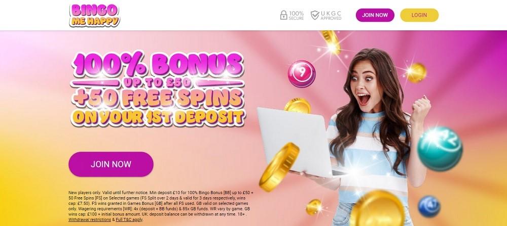 Bingo Me Happy Website