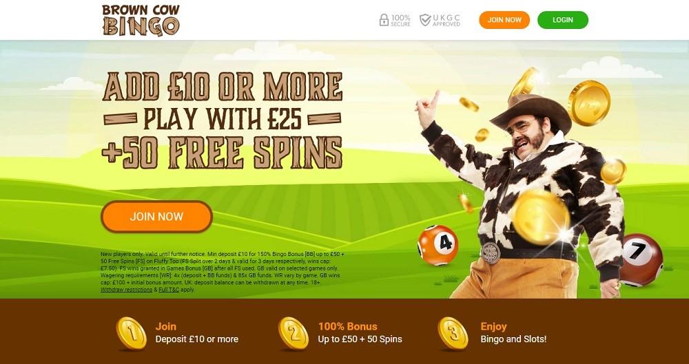 Brown Cow Bingo Website