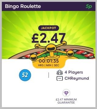 Celeb Bingo Bingo Roulette