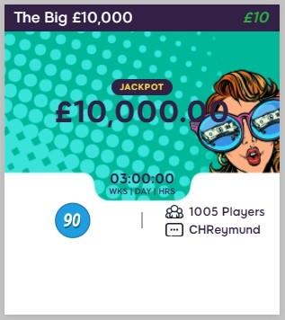 Celeb Bingo The Big £10,000