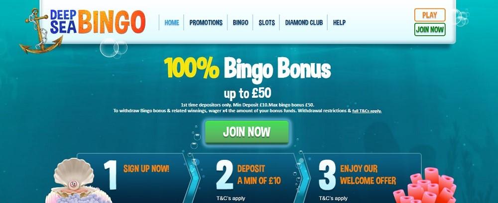 Deep Sea Bingo Website