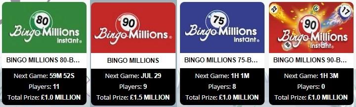 Free Spirit Bingo Bingo Millions