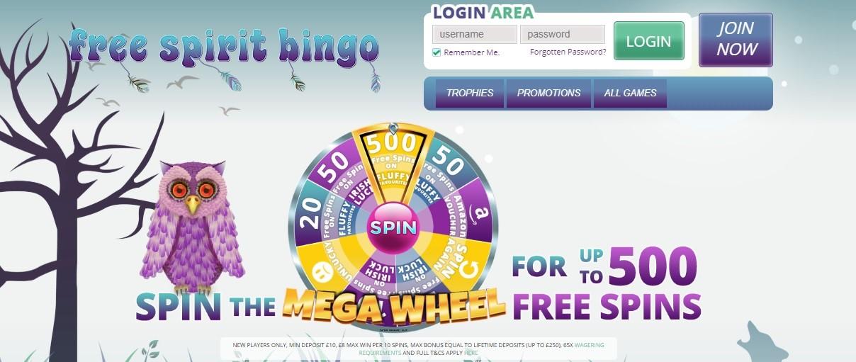 Free Spirit Bingo Website