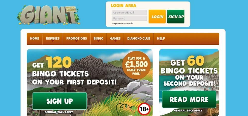 Giant Bingo Website