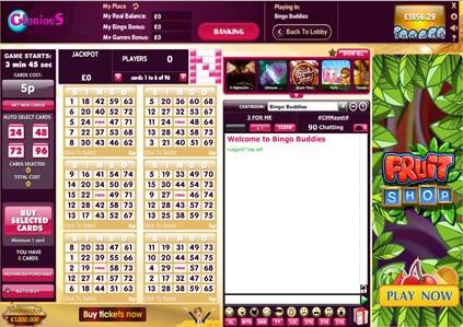 Glorious Bingo Game in Progress