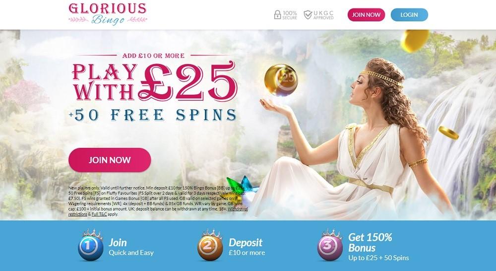 Glorious Bingo Website