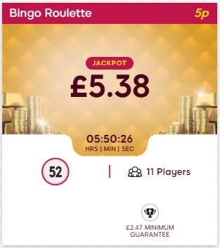 Just Cash Bingo Bingo Roulette