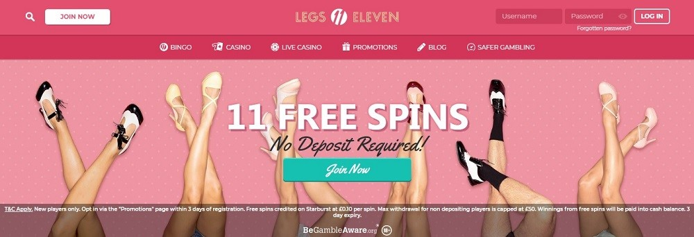 Legs Eleven Bingo Website