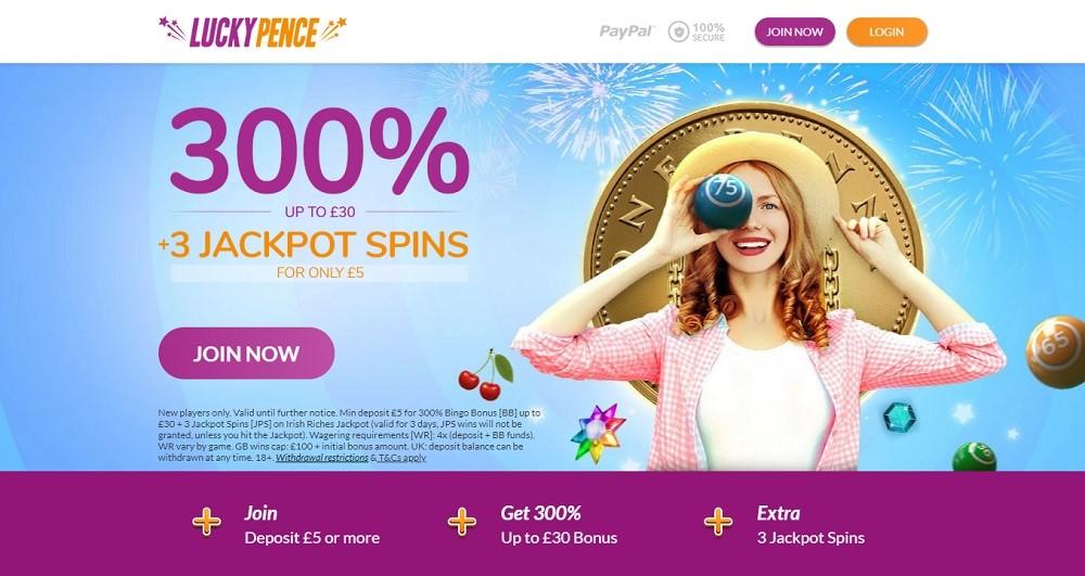 Lucky Pence Bingo Website