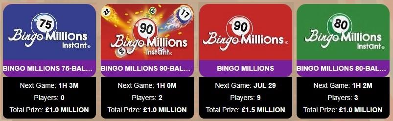 Lucky Wheel Bingo Bingo Millions