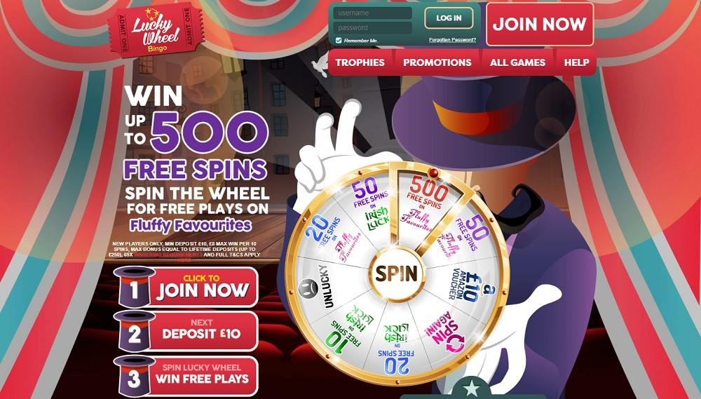 Lucky Wheel Bingo Website