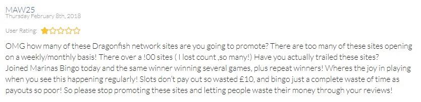 Marinas Bingo Player Review 2