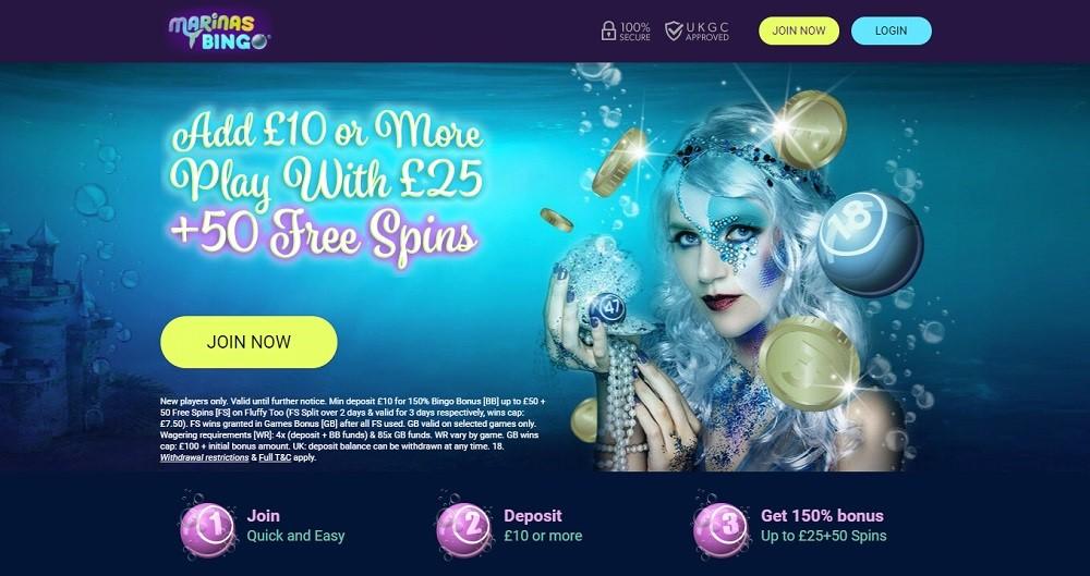 Marinas Bingo Website