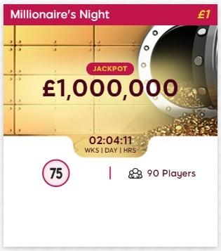 Nova Bingo Millionaires Night