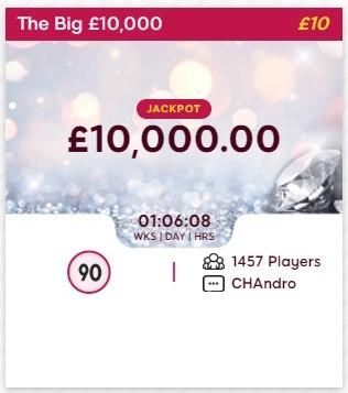 Nova Bingo The Big £10,000