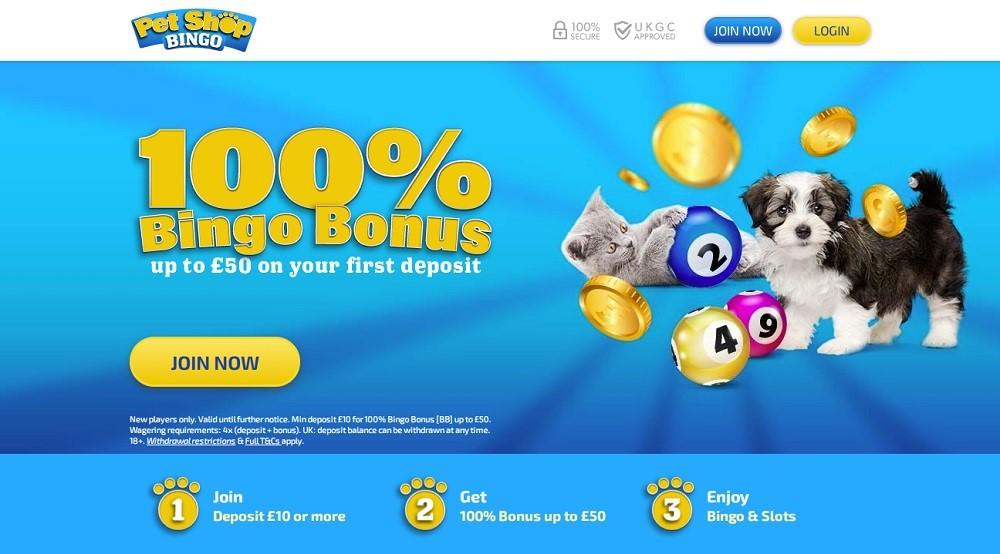 Pet Shop Bingo Website