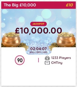 Sin Street Bingo The Big £10,000