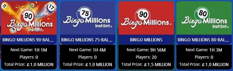 Smile Bingo Bingo Millions