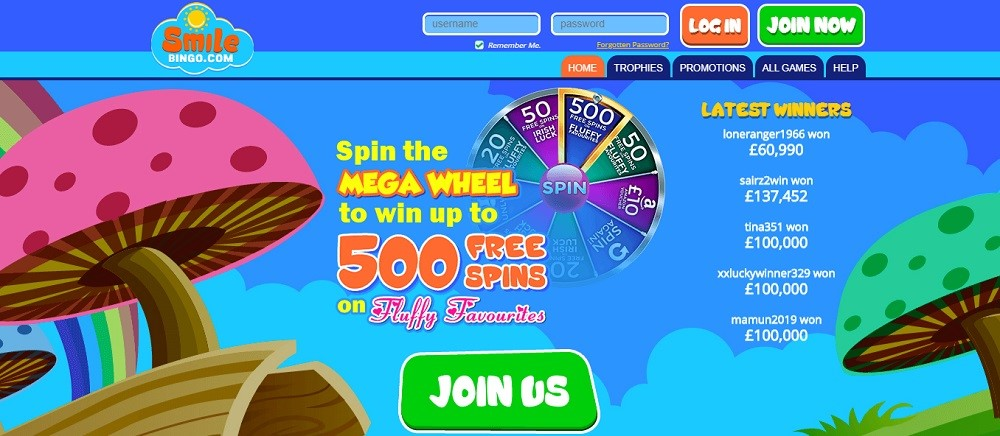 Smile Bingo Website