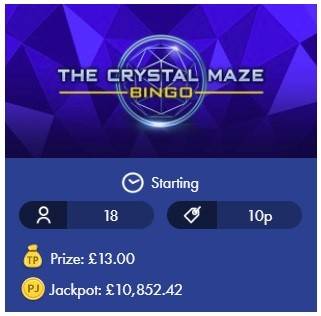 Smooth Bingo The Crystal Maze Bingo