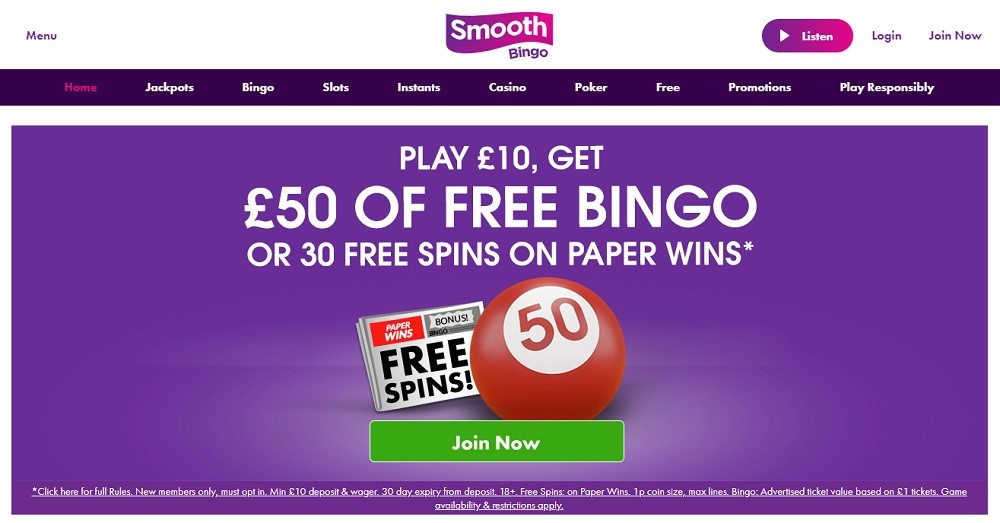 Smooth Bingo Website