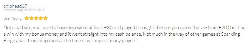 Sparkling Bingo Player Review 5