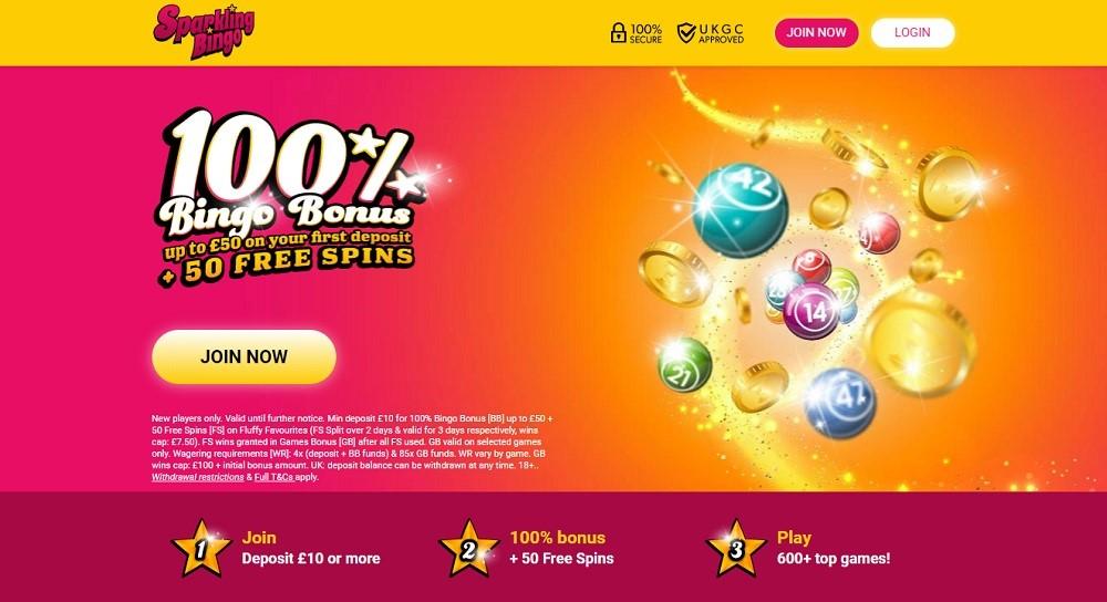 Sparkling Bingo Website