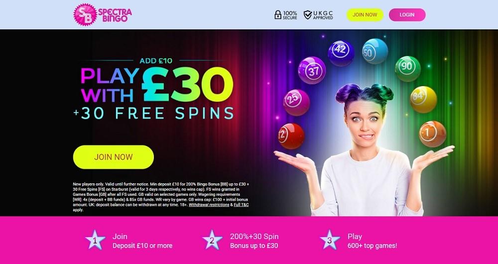 Spectra Bingo Website