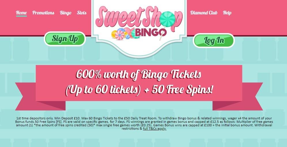 Sweet Shop Bingo Website