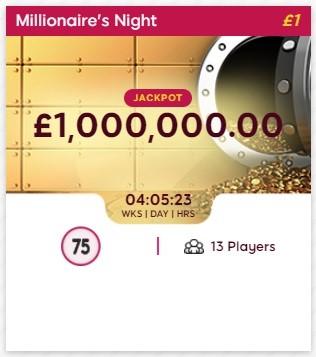 Bingo 3X Millionaires Night