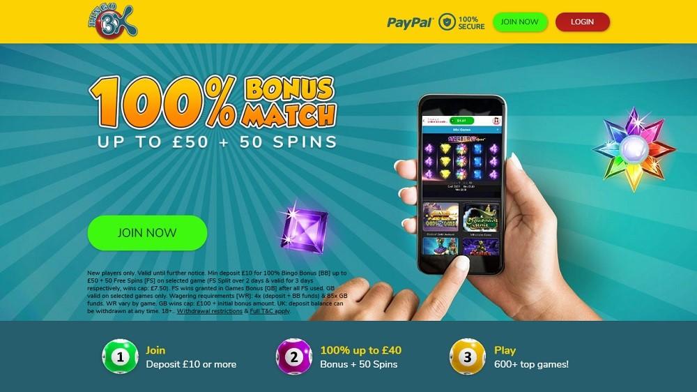 Bingo 3X Website