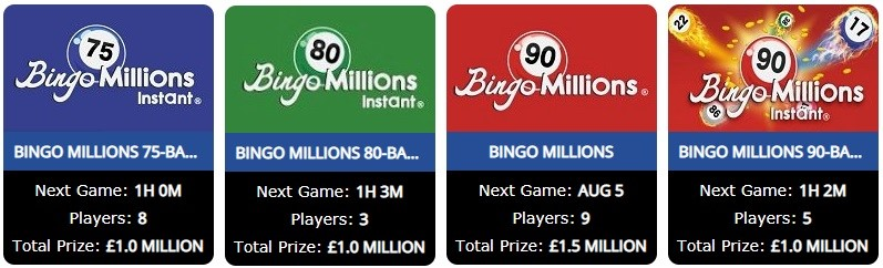 Bingo Aliens Bingo Millions