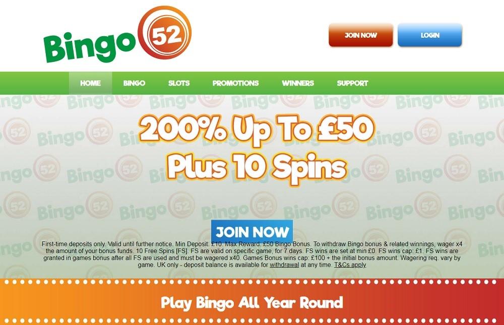 Bingo52 Website