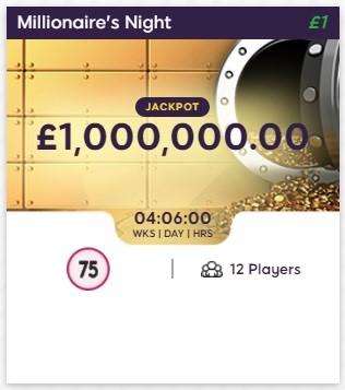 Golden Pound Bingo Millionaires Night