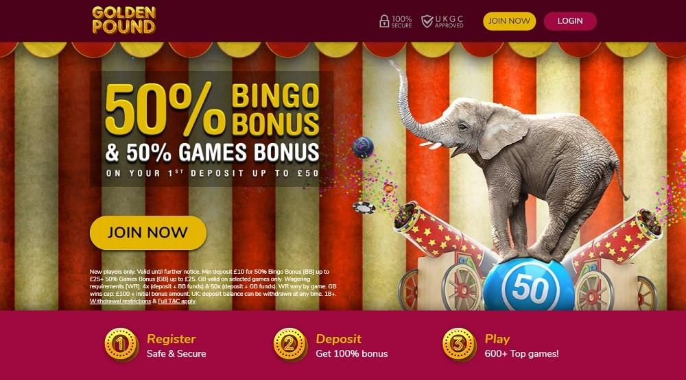 Golden Pound Bingo Website