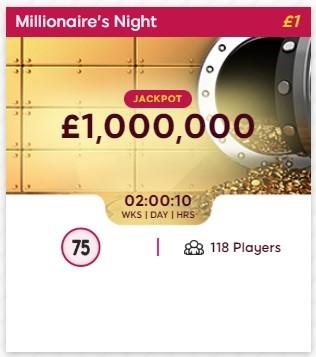 Isle of Bingo Millionaires Night