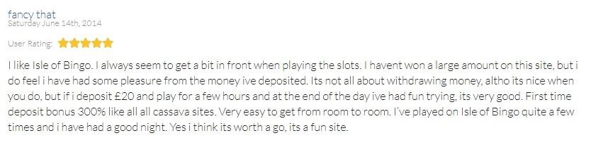 Isle of Bingo Player Review