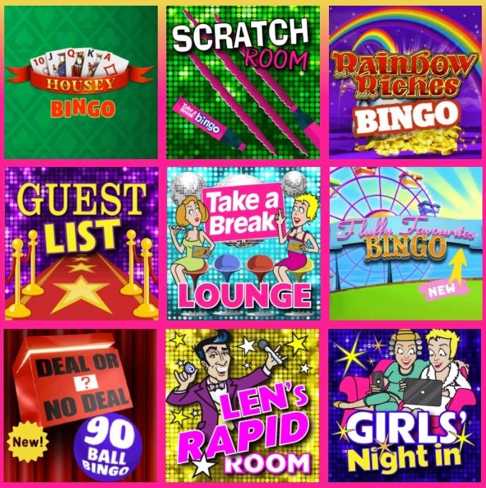 Take a Break Bingo Lobby