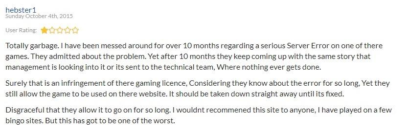 Take a Break Bingo Player Review 3