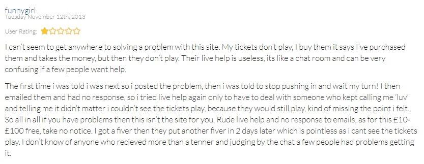 Top Class Bingo Player Review