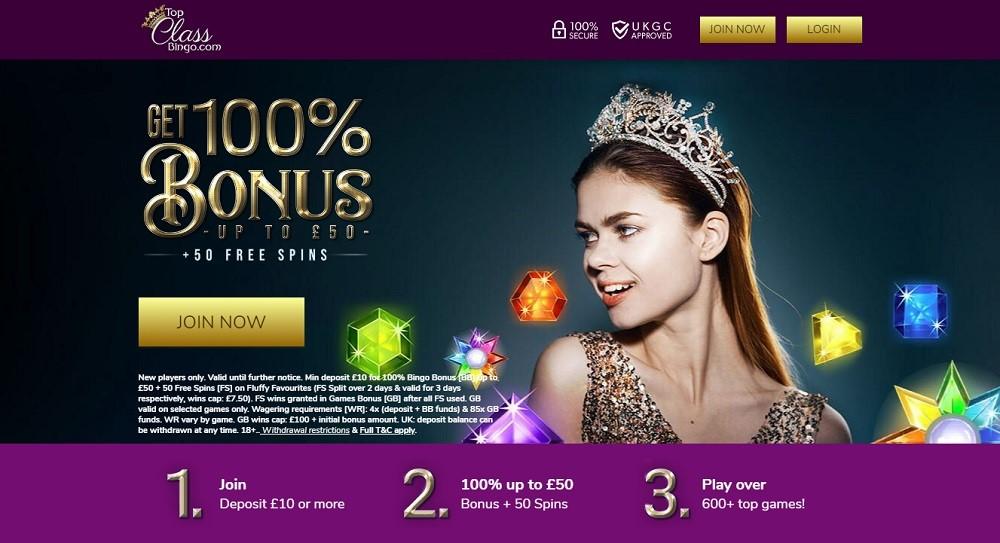 Top Class Bingo Website