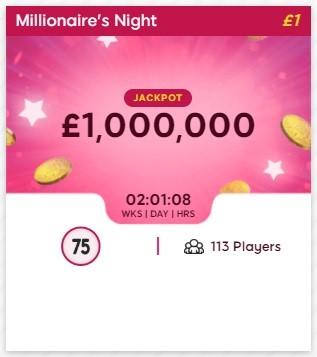 Tuck Shop Bingo Millionaires Night