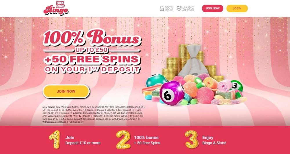 Tuck Shop Bingo Website