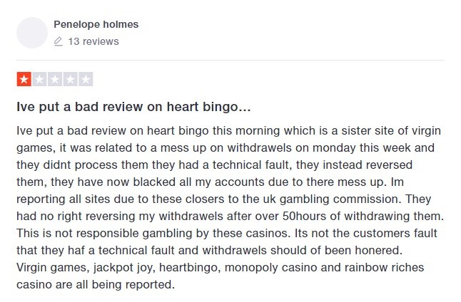 Virgin Bingo Player Review 7